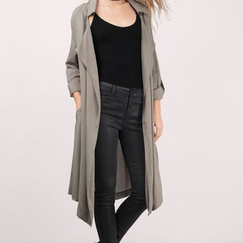 Monsoon Draped Trench Jacket