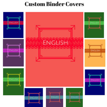 Printable Custom Modern Binder Cover Sets | Modern Binder Insert | Modern Binder Insert | Custom Printable Binder Cover | Teacher Journal