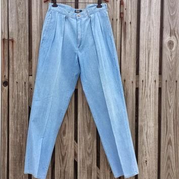 Vintage Polo RALPH LAUREN Men's Pleated Preppy Jeans - Lightweight - Made in USA Sz 36