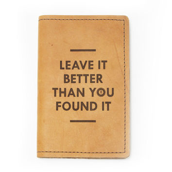 Passport/Field Notes Leather Cover