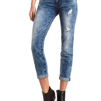 DISTRESSED SLOUCHY BOYFRIEND JEAN