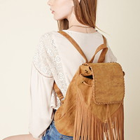 Izzy & Ali Fringed Backpack | Forever 21 - 1000201750