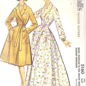 1950s Misses Flared Housecoat Sewing Pattern  by MissBettysAttic