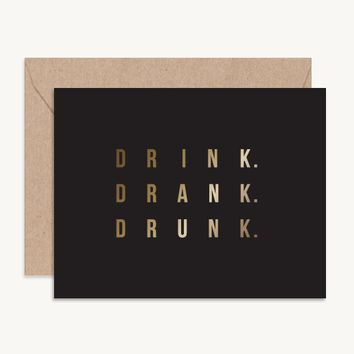 Drink Drank Drunk Bachelorette Party Card