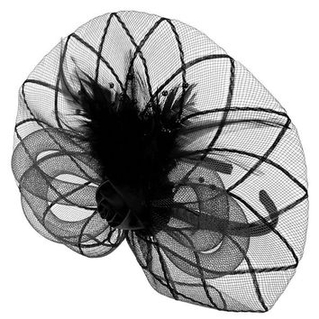 Bridal Hair Accessories Feather Flowers Hat Gauze Veil Headdress Hair Bands