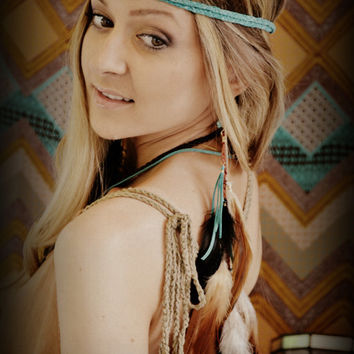 BOHO BABE Leather Braid Headband