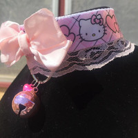 Hello Kitty Bubble Gum Pink Lace Collar