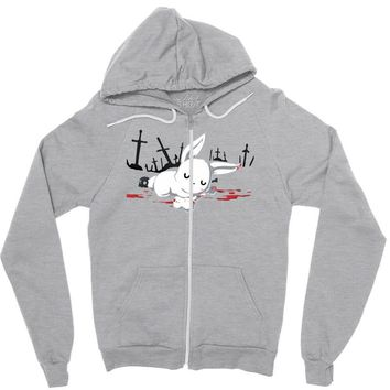 harmless little bunny Zipper Hoodie