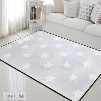 Nordic Design Star Printed Carpet Anti-Slip Floor Rug Bath Mat Soft Baby Playing Carpets for Living Room Indoor Bedroom Rugs