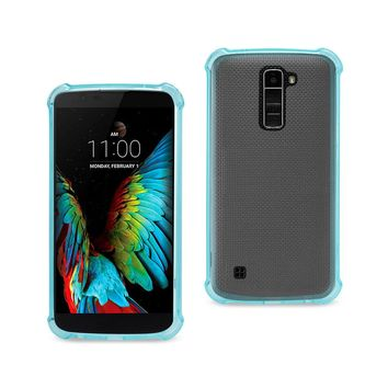 LG K10 Clear Bumper Case With Air Cushion Protection (Navy)