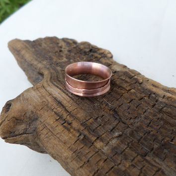 Copper Spinner Ring, Women's Copper Ring, Women's Spinner Ring