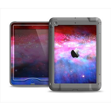 The Vivid Pink and Blue Space Apple iPad Air LifeProof Nuud Case Skin Set
