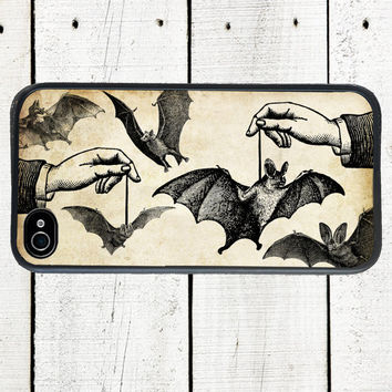 iPhone Case Dangling Bats  Halloween Cell Phone Case - iPhone 5 Case - iPhone 4,4s
