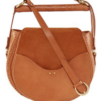 Babylon bar bag suede in cognac