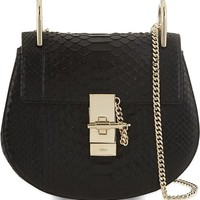 CHLOE - Drew mini python cross-body bag | Selfridges.com