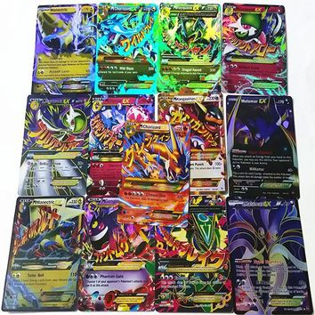 60 Pcs/Set EX POKEMON Mega Cards Shine English