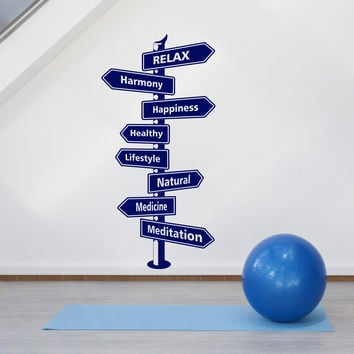 Wall Vinyl Decal Health Sign Sports Decor Harmony Relax Unique Gift z4539