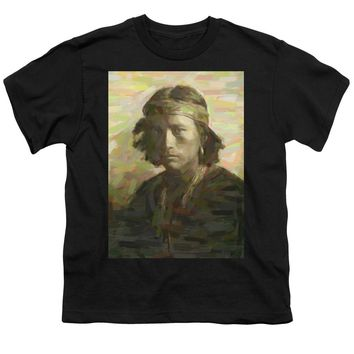 Portrait Of A Navajo Youth 1 - Youth T-Shirt