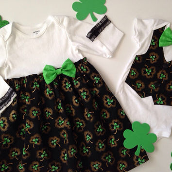 St. Patrick Twins Onesuit, Sibling Shamrock Set, Matching Sibling Outfits, Brother Sister Outfit, Big Sister Little Brother, Shamrock Outfits