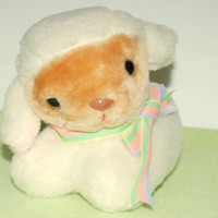 Vintage Avon 1984 Plush Lamb Bank Collectible