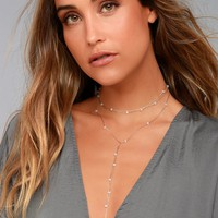 8 Other Reasons Demi Gold Layered Choker Necklace