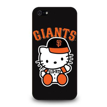 HELLO KITTY SAN FRANCISCO GIANTS iPhone 5 / 5S / SE Case Cover