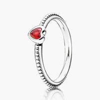 Women's PANDORA 'One Love' Heart Stone Ring - Silver/