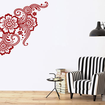 Vinyl Decal Beautiful Exquisite Floral Ornament Decor Room Wall Sticker Unique Gift (n492)