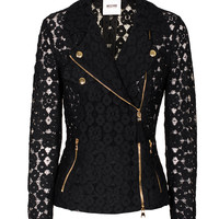 MOSCHINO Cheap and Chic Biker Lace Black Lace blazer in biker look - Blazers & Vests
