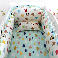 6/7PC Colorful Mickey Baby Bedding Set