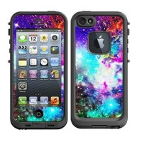 Skins Kit for Lifeproof iPhone 5 Case (skins/decals only) -Galaxy Stars, Nebula Design