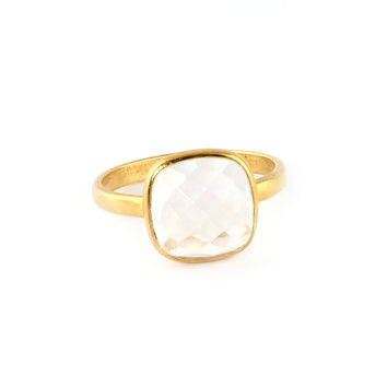 Crystal Quartz Cushion Ring