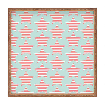 Allyson Johnson Stripes And Stars Square Tray