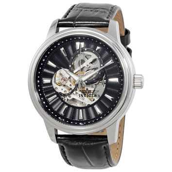 Invicta Vintage Automatic Black Skeleton Dial Mens Watch 22577