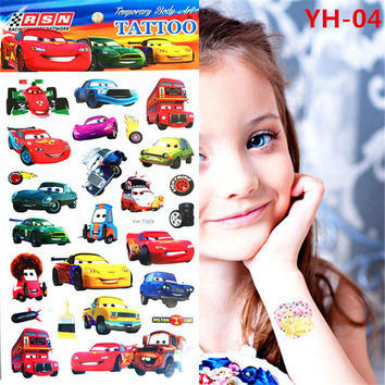 Huang temporary tattoo designs children body art flash tattoos 21 * 10 centimeters waterproof car style tattoo wall stickers
