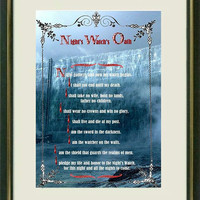 Game of Thrones- NIGHT WATCH OATH -  Poster art print  - Quote art print -  Writers quotes - Art Print