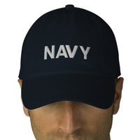 Personalized Adjustable Hat... NAVY. Embroidered Hat | Zazzle