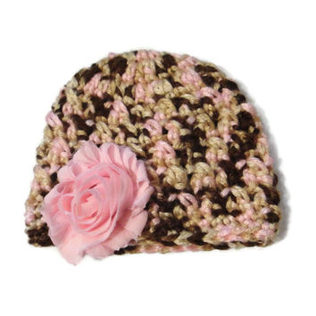 "Doll Hat Pink Brown 18"" Doll Flower Accessories"