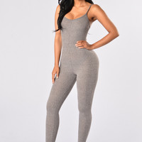 Little Miss Popular Jumpsuit - Grey