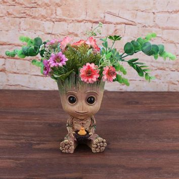 Grootted Planter Pot Baby Flowerpot Action Figures Toy Pen Pot PVC Hero Model Guardians Of The Galaxy Crafts Figurine Home Decor