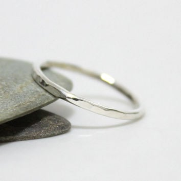 Sterling Silver Hammered Stacking ring/ Silver Stacking Ring/ Simple Ring/Rustic Silver Ring