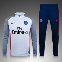 KUYOU PSG 2016/17 White with Blue Men Tracksuit Slim Fit