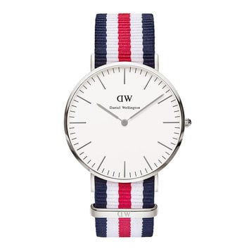 Men's Classic Canterbury Watch in Silver by Daniel Wellington