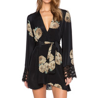 STONE_COLD_FOX Stone Robe in Dharma Print