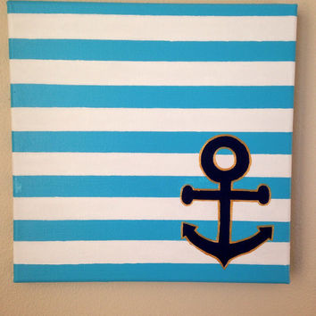 12x12 Anchor painting on canvas