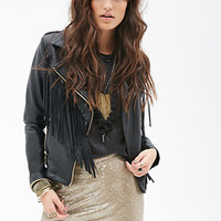 FOREVER 21 Sequined Mini Skirt Gold