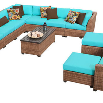 2017 Home Furniture Outdoor Wicker Patio 13 Piece Sectional Sofa with Chairs