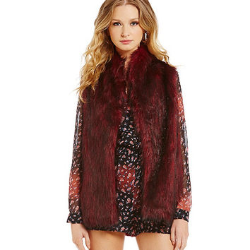 BCBGeneration Faux-Fur Vest | Dillards