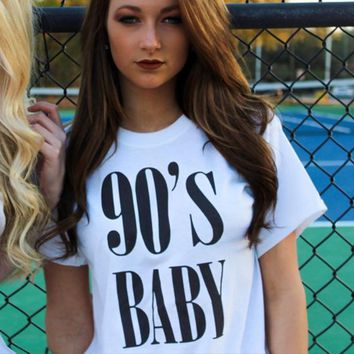 90's Baby Letters Women Summer Fashion Clothing 90s Rap Shirt Rap Lyric T Shirt Rap Music Graphic Tee Tumblr T-shirt Casual Tops