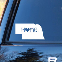 Nebraska Home Decal | Nebraska State Decal | Homestate Decals | Love Sticker | Love Decal  | Car Decal | Car Stickers | 067